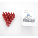WKP04237E20 Red Halma Game Pawns 24mm x 13mm Pack of 20