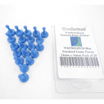 WKP04243E20 Blue Standard Game Pawns 24mm x 16mm Pack of 20