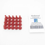 WKP04249E20 Red Standard Game Pawns 24mm x 16mm Pack of 20