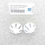 WKP17624E2 White Opaque Dice Virtues and Sins D14 29mm Pack of 2