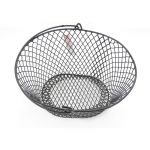 WONDS003 Wire Black Oval Basket  9x8x5 Wondertrail