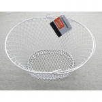 WONDS004 Wire White Oval Basket 9x8x5 Wondertrail