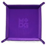 Met537 Velvet Folding Dice Tray 10x10 Purple