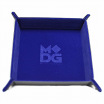 MET532 Blue Velvet Folding Dice Tray 10 x 10 inch Metallic Dice Games
