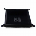Met533 Velvet Folding Dice Tray 10x10 Black