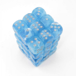 Chx27966 Luminary Sky Dice Silver Pips D6 Pack Of 36 12mm