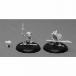 Rpr07020 Kobold Spearmen Miniature Dungeon Dwellers Reaper Minitures