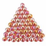 Wcx01174 Crystal Red Iridized Glass Stones 40 Or More