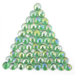 Wcx01175 Crystal Green Iridized Glass Stones 40 Or More