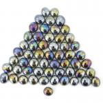 Wcx01178 Black Opal Iridized Glass Stones 40 Or More