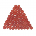 Wcx01184 Crystal Red Frosted Glass Stones 40 Or More
