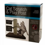 WONDSOD425 Wooden Cat Scratch and Play Post Wondertrail