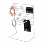 WONDSRCK1 Small Counter Top Display with 6 Plastic 4 in Hooks