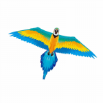 BRS70702 Rainforest Macaw 61 Inch Nylon Kite Brainstorm Products