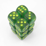 Chx27765 Maple Green Borealis Dice Pips D6 Pack Of 12 16mm