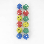 Kop19034 Assorted Spotted Dice D12 1-6x2 Pack Of 12