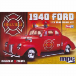 MPC81512 1940 Ford Fire Chief 1/25 Scale Plastic Model Kit MPC