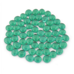 WCX01125 Crystal Dark Green Gaming Stones 12 - 14mm (40 or More) Chessex