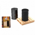 FEX17023 55 Gallon Drums and Pallet 1/24 Scale Plastic Model Accessory