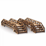 LCW1380 Scaffolding Bridges 28mm Pack of 2 Laser Craft