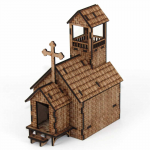 LCW2145 Old West Church Laser Craft