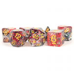 Met628 Red Black Gold Particle 7-set Dice
