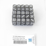 WCXDF1608E50 Smoke Frosted Dice White Pips 16mm (5/8in) D6 Pack of 50