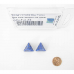 WCXPV0406E2 Blue Vortex Dice Gold Numbers D4 16mm (5/8in) Pack of 2