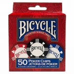 Jkr1006264 Clay Poker Chips 8 Gram 50ct Bicycle