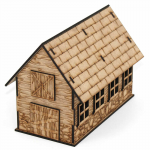 LCW1121 Abitha the Barn 28mm Scale Miniature Terrain Laser Craft Workshop