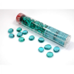 Wcx01146 Crystal Teal Glass Stones 40 Or More