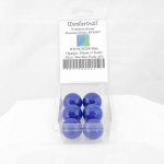 WONGM250 Blue Opaque 25mm (1 Inch) Glass Marbles Pack of 6