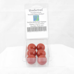 WONGM254 Red Opaque 25mm (1 Inch) Glass Marbles Pack of 6