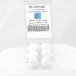 WONGM256 Vanilla Opaque 25mm (1 Inch) Glass Marbles Pack of 6