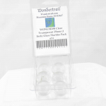 WONGM258 Clear Transparent 25mm (1 Inch) Glass Marbles Pack of 6