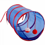 WONKOD476 Cat Tunnel With Dangle Toys 21 In X 10 In
