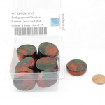 WCXBG2831E15 Backgammon Checkers Gemini Green and Red (28mm X 8mm) Set of 15