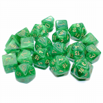 CHXLE714 Vortex Bag Of 20 Green/gold Dice