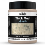 Val26810 Light Brown Thick Mud Texture 200ml Vallejo