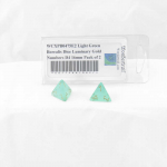 WCXPB0475E2 Light Green Borealis Dice Luminary Gold Numbers D4 16mm Pack of 2
