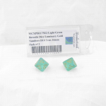 WCXPB1175E2 Light Green Borealis Dice Luminary Gold Numbers D10 Tens 16mm Pack of 2