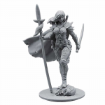 Flm28037 Female Warrior With Spear And Shield