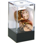 CHX29011 Copper Plated 16mm 6 Sided Dice 2 ea in Box by Chessex