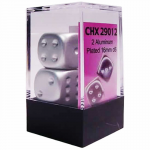 CHX29012 Aluminum Plated 16mm 6 Sided Dice 2 ea in Box