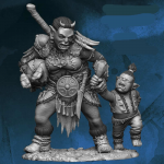 Flm28015 Orc Woman With Crying Child