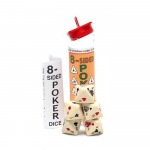 KOP01444 Poker Dice Game Ivory Opaque 8 Sided (d8) 16mm (5/8in)