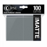 UPR15623 Eclipse Smoke Grey Matte Standard Sleeves 100 Count Pack Ultra Pro