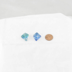 WCXPN0456E2 Oceanic Nebula Luminary Dice Gold Numbers 16mm (5/8in) D4 Set of 2