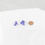 WCXPN0457E2 Nocturnal Nebula Luminary Dice Blue Numbers 16mm (5/8in) D4 Set of 2