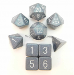 KOP13134 Hi Tech Elemental Dice With Silver Numbers Set 10pc Dice